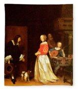 The Suitors Visit Fleece Blanket