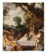 A Bacchanalian Feast, C.1617 Fleece Blanket