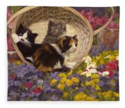 A Basket Of Cuteness Fleece Blanket