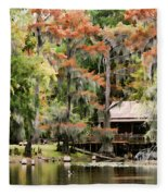 A Bayou Retreat Fleece Blanket