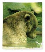 A Bear Bath Fleece Blanket