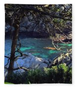 A Beautiful Cove At Point Lobos Fleece Blanket