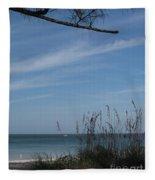 A Beautiful Day At A Florida Beach Fleece Blanket