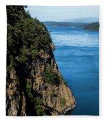 A Beautiful Landscape At Deception Pass Fleece Blanket