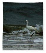 A Beautiful Snowy White Egret On Hilton Head Island Beach Fleece Blanket