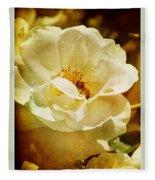 A Bee And Rose Fleece Blanket