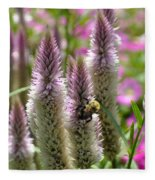 A Bee's Work Is Never Done Abwndp Fleece Blanket