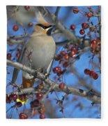 A Bird For Its Crest.. Fleece Blanket
