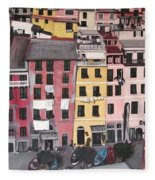 A Bird's Eye View Of Cinque Terre Fleece Blanket