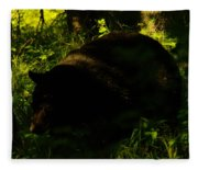 A Black Bear Fleece Blanket