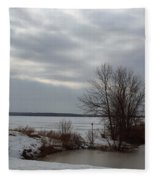 A Bleak Midwinter Day Fleece Blanket