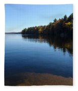 A Blue Autumn Afternoon - Algonquin Lake Tranquility Fleece Blanket