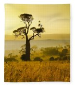 A Boab Sunrise Fleece Blanket