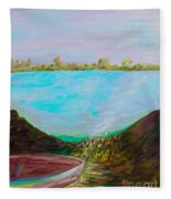 A Boat And A Seamless Sky Fleece Blanket