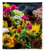 A Bouquet Of Flowers  Fleece Blanket