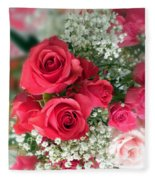 A Bouquet Of Roses For You Fleece Blanket