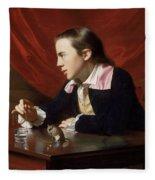 A Boy With A Flying Squirrel. Henry Pelham Fleece Blanket