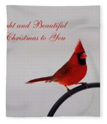 A Bright And Beautiful Merry Christmas To You Fleece Blanket
