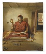 A Buddhist Monk, From India Ancient Fleece Blanket