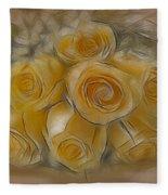 A Bunch Of Yellow Roses Fleece Blanket