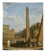 A Capriccio View Of Roman Ruins, 1737 Fleece Blanket