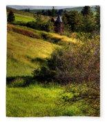 A Castle In The Landscape Fleece Blanket
