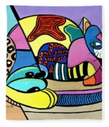 A Cat Named Picasso Fleece Blanket