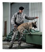 A Caucasian, Male Air Force Security Fleece Blanket