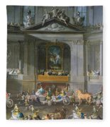 A Cavalcade In The Winter Riding School Of The Vienna Hof To Celebrate The Defeat Of The French Fleece Blanket