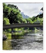 A Central Park Day Fleece Blanket