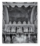 A Central View Bw Fleece Blanket