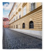 A Charming Street In Prague Fleece Blanket