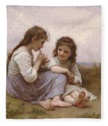 A Childhood Idyll Fleece Blanket