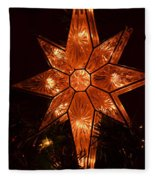 A Christmas Star Fleece Blanket