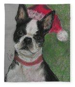 A Christmas Terrier Fleece Blanket