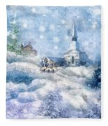 A Christmas To Remember Fleece Blanket