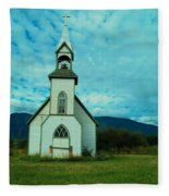 A Church In British Columbia   Fleece Blanket