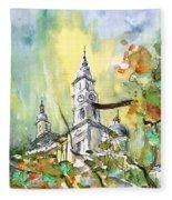 A Church In Budapest 02 Fleece Blanket