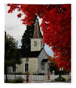 A Church In Historic Jacksonville Fleece Blanket