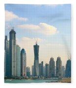 A City In Progress Fleece Blanket