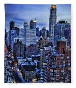 A City That Never Sleeps Fleece Blanket