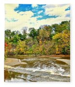 A Cleveland Autumn Fleece Blanket