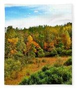 A Cleveland Landscape Fleece Blanket
