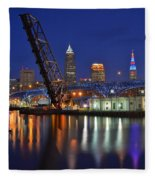 A Cleveland Ohio Evening On The River Fleece Blanket