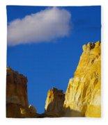 A Cloud Over Orange Rock Fleece Blanket