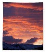 A Colorado Sunrise Fleece Blanket