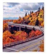 A Colorful Ride Along The Blue Ridge Parkway Fleece Blanket