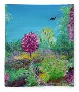 A Corner Of Heaven In Rural Indiana Fleece Blanket