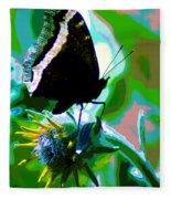 A Cosmic Butterfly Fleece Blanket