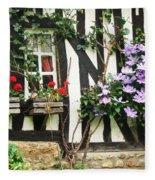 A Cottage In Normandy Fleece Blanket